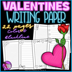 Valentine's Writing Paper for any Literacy Activities
