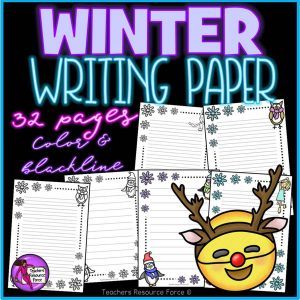 Winter Writing Paper for any Literacy Activities