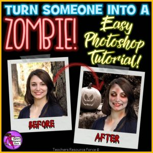 Zombie Yourself Photoshop Tutorial for Big Kids
