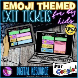 Digital Emoji Exit Tickets