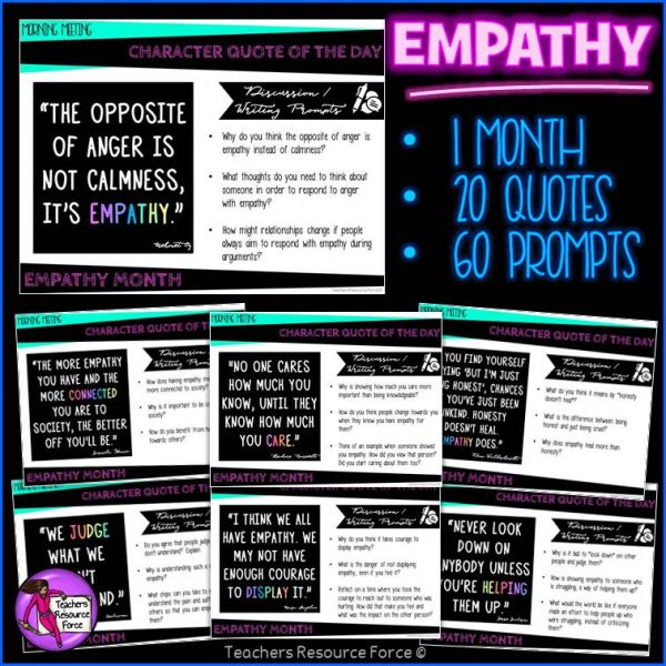 EMPATHY Character Education Morning Meeting Whiteboard & Journal BUNDLE