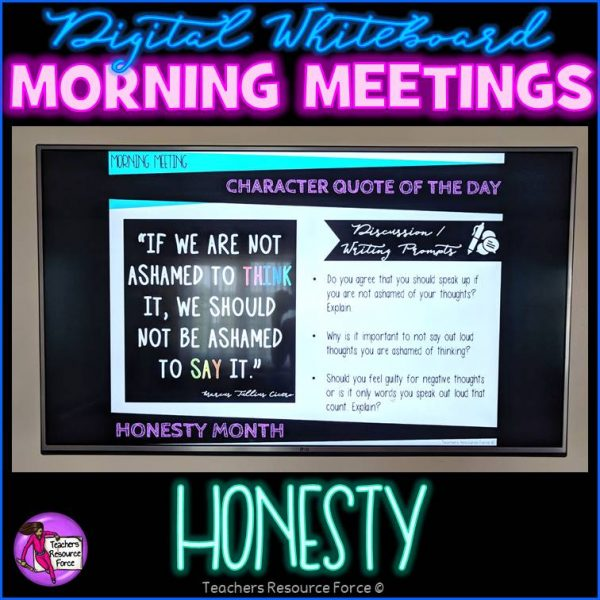 HONESTY Character Education Morning Meeting Whiteboard & Journal BUNDLE