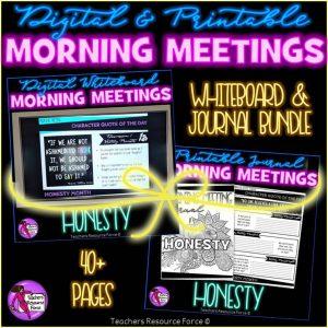 HONESTY Character Education Morning Meeting Whiteboard & Journal BUNDLE