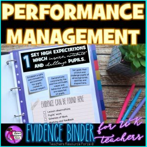 Performance Management: UK Teachers' Standards Evidence Binder