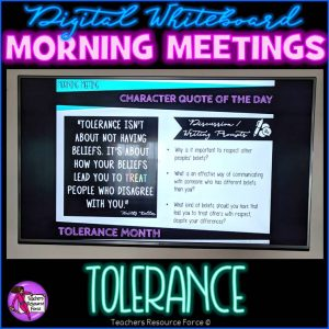 TOLERANCE Character Education Morning Meeting Digital Whiteboard PowerPoint