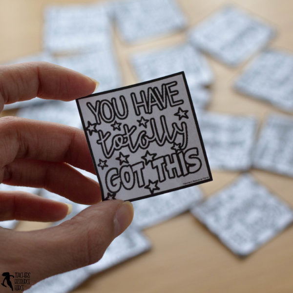 Coloring Compliment Notes | Whole School Kindness Project