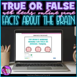 Brain Facts: True or False Online Game