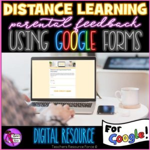 Distance Learning Parent Feedback Check In Google Forms