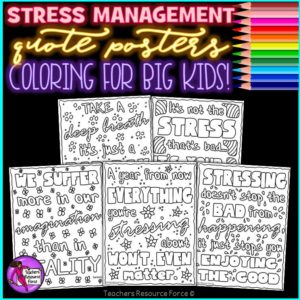 Stress Management Quote Coloring Pages
