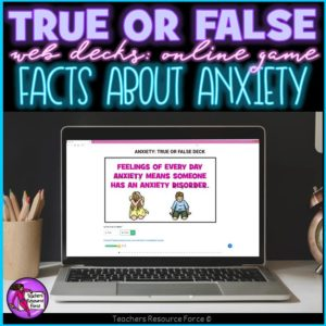 Anxiety Facts: True or False Online Game
