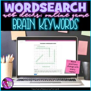 The Brain Vocabulary: Wordsearch Online Game