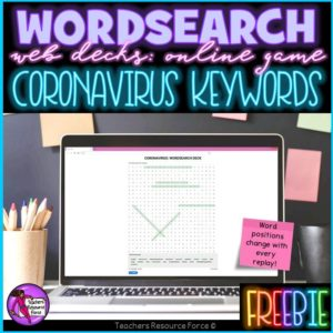 coronavirus online wordsearch