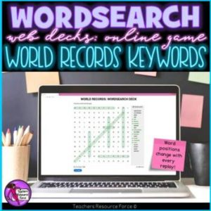 World Records Vocabulary: Wordsearch Online Game