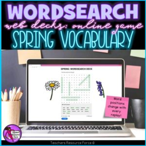 Spring Vocabulary: Wordsearch Online Game