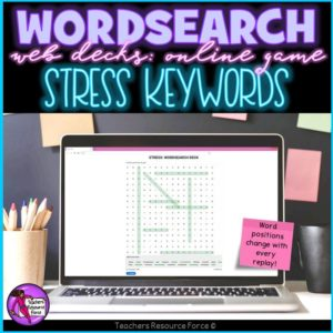 stress wordsearch online