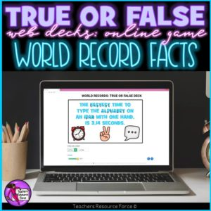 World Record Facts: True or False Online Game
