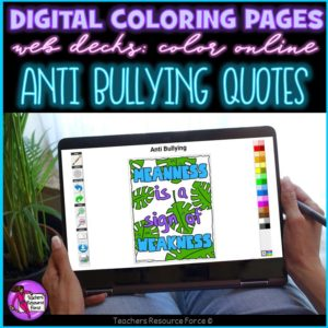 Digital Quote Colouring Pages: Anti Bullying Quotes