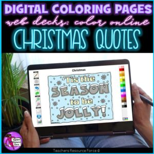 Digital Quote Colouring Pages: Christmas Quotes