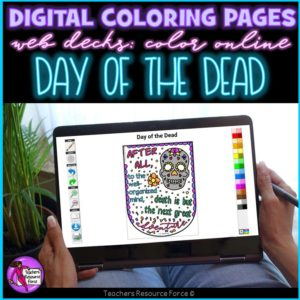 Digital Quote Colouring Pages: Day of the Dead Quotes