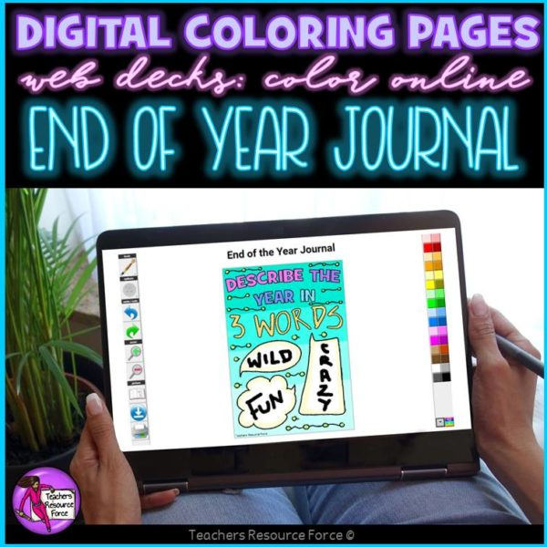Digital Quote Colouring Pages: End of the Year Journal