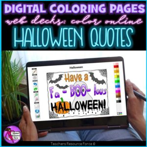 Digital Quote Colouring Pages: Halloween Quotes