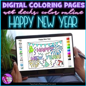 Digital Quote Colouring Pages: Happy New Year Quotes