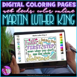 Digital Quote Colouring Pages: Martin Luther King Quotes