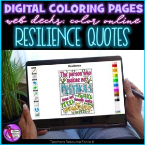 Digital Quote Colouring Pages: Resilience Quotes