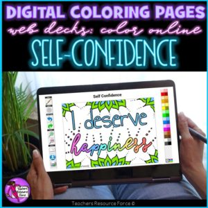 Digital Quote Colouring Pages: Self Confidence Quotes