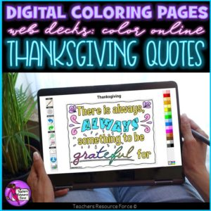 Digital Quote Colouring Pages: Thanksgiving Quotes