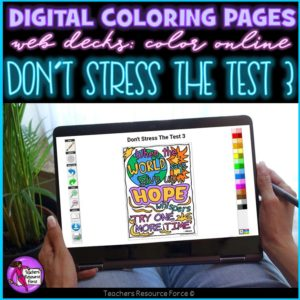 Digital Quote Colouring Pages: Don't Stress The Test 3