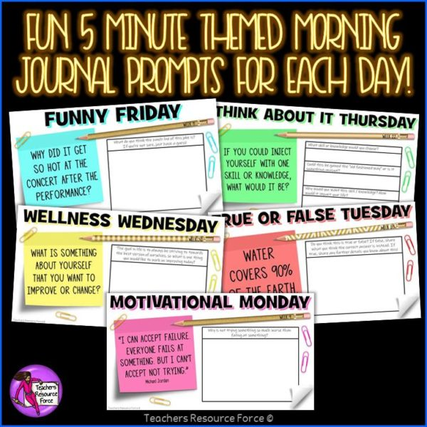 Distance Learning Daily Virtual Morning Meeting Messages Journal (1 FULL YEAR)