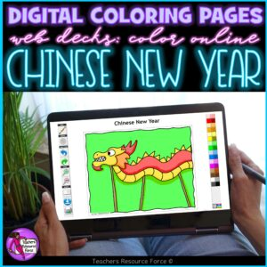 chinese new year digital coloring pages