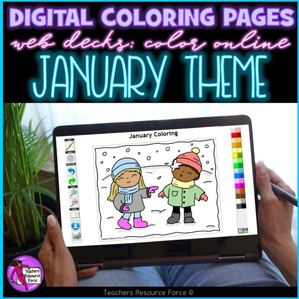 Digital Quote Colouring Pages – January Theme