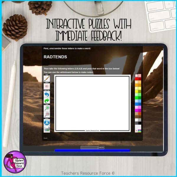 Grades 9-11 Pick A Path Desert Island Pick Your Own Adventure Digital Multi Path Escape Room