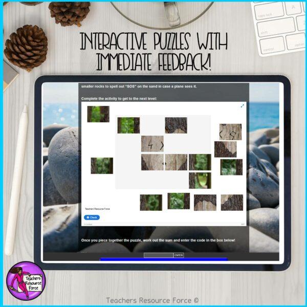 Pick A Path Desert Island Pick Your Own Adventure Digital Multi Path Escape Room