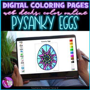 pysanky eggs digital coloring