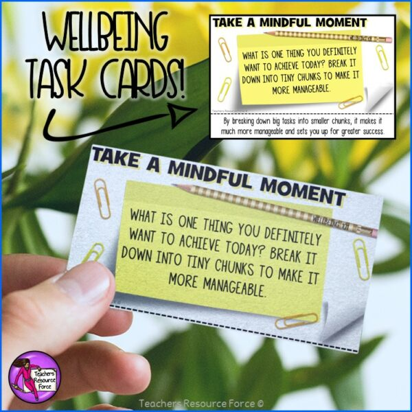 Wellbeing Task Cards Set Bundle for Morning Meeting, Indoor Recess, Early Finishers, Reading